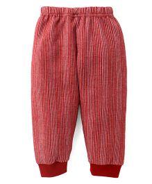Ollypop Full Length Winter Wear Legging - Red