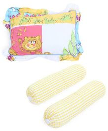 Owen Two Bolster And Pillow Set - Yellow