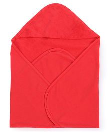 Ohms Terry Hooded Bath Towel - Red