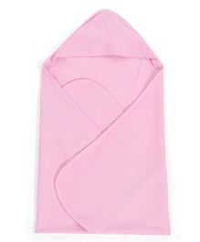 Ohms Terry Hooded Bath Towel - Pink