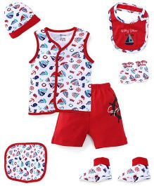 Ohms Clothing Gift Set Red & White - Pack Of 7