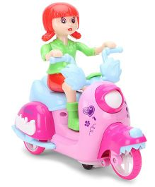 Smiles Creation Doll Musical Bump And Go Scooter - Red Green Pink