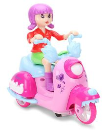 Smiles Creation Doll Musical Bump And Go Scooter - Green Red Pink