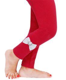 D'chica Bow Applique Leggings For Girls - Fuchsia
