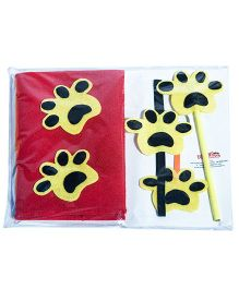 Li'll  Pumpkins Stationery Set With Tiger Applique - Red & Yellow