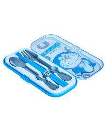 Li'Ll Pumpkins Cartoon Cutlery Set - Blue