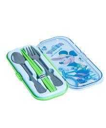 Li'Ll Pumpkins Cartoon Cutlery Set - Green