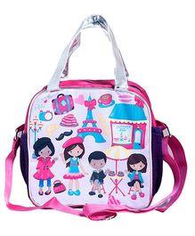 Li'Ll Pumpkins Paris Tote & Sling Bag - Pink & White