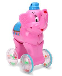 Luvely Pink Press N Go Elephant - Pink