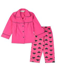 Bownbee Naughty Kitty Night Suit - Pink