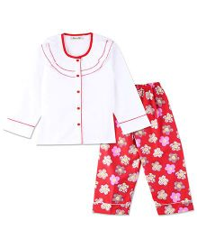 Bownbee Chritmas Colors Night Suit - White