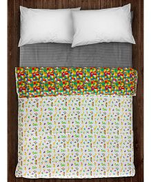 Paper Rockets Blocks Coverlet - Multicolor