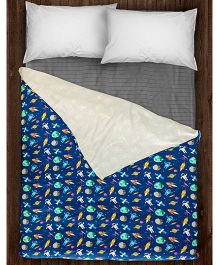 Paper Rockets Space Coverlet - Multicolor