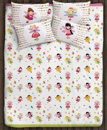Paper Rockets Fairies Double Bed Sheet - Multicolor