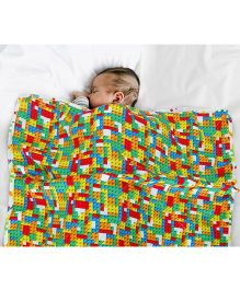 Paper Rockets Blocks Infant Coverlet- Multicolor