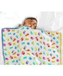 Paper Rockets Monsters Infant Coverlet - Multicolor