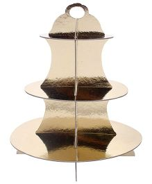 Shopaparty 3 Tier Cupcake Stand - Gold