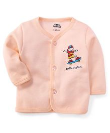 Little Darlings Thermal Vest With Free Style Print - Light Peach