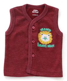 Little Darlings Sleeveless Thermal Vest - Red