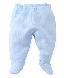 Little Darlings Fleece & Thermal Bootie Leggings - Light Sky Blue