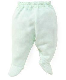 Little Darlings Fleece & Thermal Bootie Leggings - Light Green