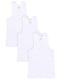 Bodycare Sleeveless Vests Pack Of 3 - White