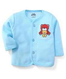Little Darlings Thermal Vest With Momma's Toy Print - Aqua