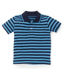 Babyhug Half Sleeves Stripe T-Shirt - Blue