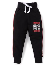 Smarty Track Pants 24 Print - Black