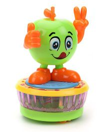 Smiles Creation Rotating Apple Musical Toy - Green And Orange