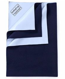 Babyhug Smart Dry Bed Protector Sheet Medium - Navy