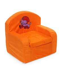 Luvely Kids Sofa Chair Puppy Embroidery - Orange
