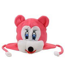 Tiekart Mouse Design Cap - Dark Pink