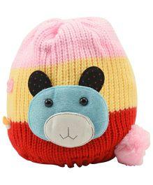 Tiekart Cute Pigglet Design Cap - Red & Yellow