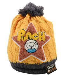 Tiekart Punch Start Design Cap - Yellow