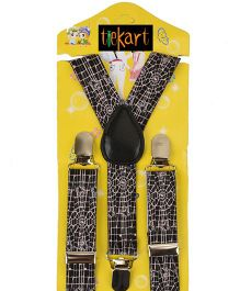 Tiekart Monochrome Suspenders - Black