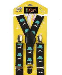 Tiekart Playful Suspenders - Black