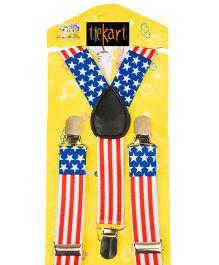 Tiekart Star N Stripes Suspenders - Multicolor