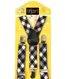 Tiekart Monochrome Suspenders- Black & White