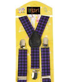 Tiekart Formaltity Suspenders - Purple & Black