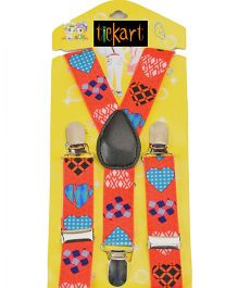 Tiekart Fire Walk Suspenders - Red