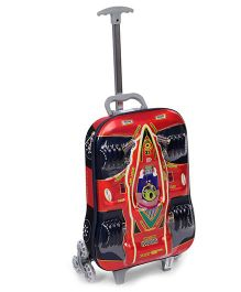 Luggage Trolley Bag Racer Car Design - Red & Black