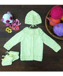 Magic Needles Classic Sweater Cap & Bootie Set Sweater - Lemon Yellow