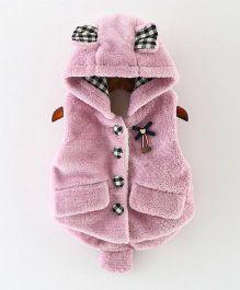 Awabox Rabbit Pattern Vest - Purple