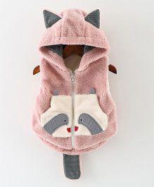 Awabox Cat Pattern Vest - Pink