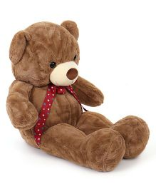 Dimpy Stuff Teddy Bear Soft Toy With Bow ties Brown - 90 cm