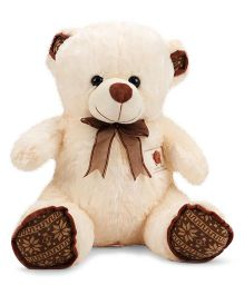 Dimpy Stuff Teddy Bear With Bow Tie And Embroidered Patch Cream - 50 cm