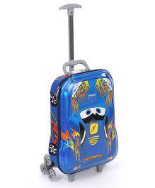 Luggage Trolley Bag Car Design - Blue