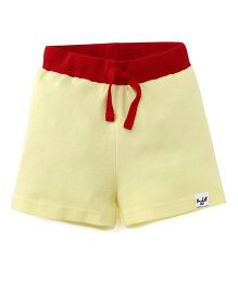Pinehill Contrast Waistband Shorts - Yellow & Red