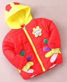 Superfie Sunflower Winter Hooded Jacket - Red